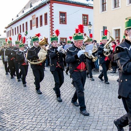 Bergparade Erzgebirge Marienberg Busbegleitung